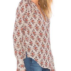 Joie Jamiona Silk Long Sleeve Printed Blouse
